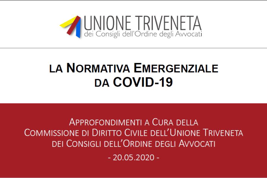 LA NORMATIVA EMERGENZIALE DA COVID-19